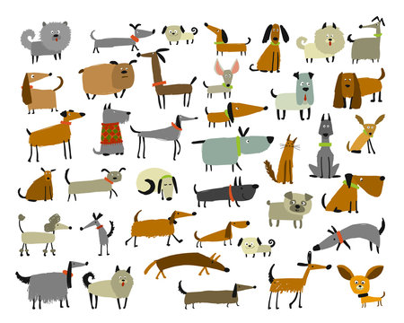 Cute dogs collection, sketch for your design
