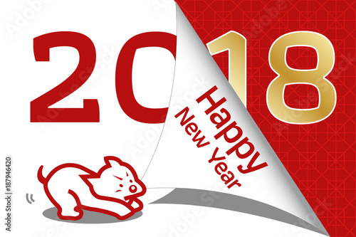 happy chinese new year 2018 2018 year of dog greeting card template cute cartoon