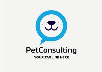 Pet Consulting Logo Template Design Vector, Emblem, Design Concept, Creative Symbol, Icon