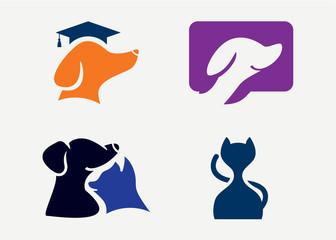 Pets Logo Set Template Design Vector, Emblem, Design Concept, Creative Symbol, Icon