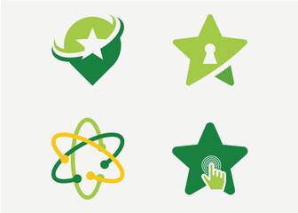 Star Logo Set Template Design Vector, Emblem, Design Concept, Creative Symbol, Icon