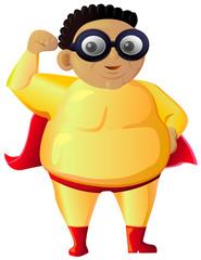 Fat Superhero vector image