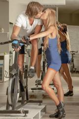 Kiss Couple Jim Cycling