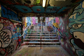 Graffiti tunnels
