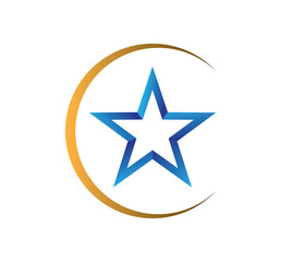 crescent star vector logo