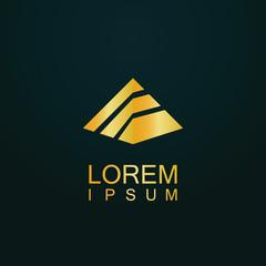 gold pyramid logo