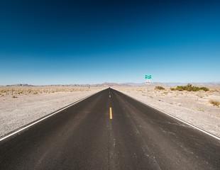 Open highway in Nevada desert