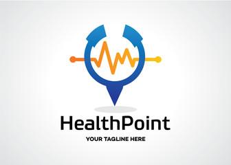 Health Point Logo Template Design Vector, Emblem, Design Concept, Creative Symbol, Icon