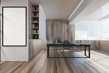 Wooden CEO office interior, poster