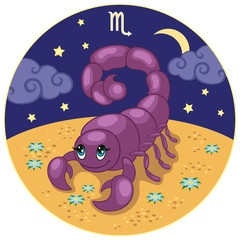 Scorpio. Baby sign of the zodiac.