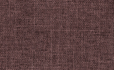 Closeup dark brown color fabric texture. Strip dark brown fabric pattern design or upholstery abstract background Hi resolution image.