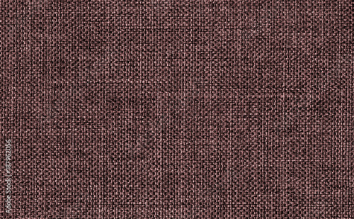 Closeup Dark Brown Color Fabric Texture Strip Pattern Design Or Upholstery Abstract