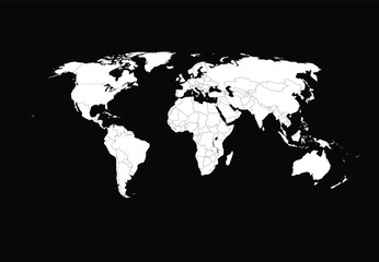 World map illustration vector