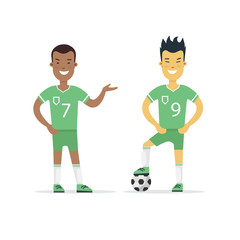 Flat Football Soccer Player vector Team sports uniform
