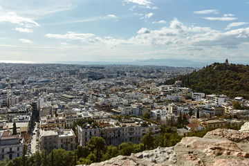 View of Athens city from Akropolis.