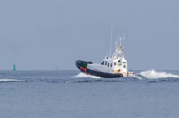 MOTORBOAT - Border Guards boat on patrol