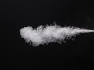 Photo isolated smoke of electronic cigarette