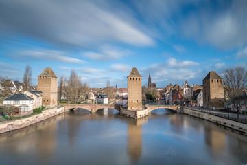 Der Bezirk Barrage Vauban mit Blick auf Strassburg, Frankreich
