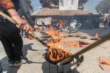Hindu Ritual, Hanuman Dhoka Durbar Square, Kathmandu, Nepal