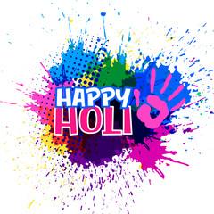 colorful splashes for happy holi festival