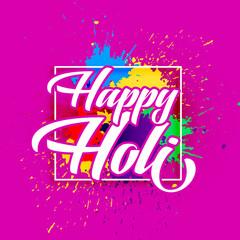 happy holi festival of colors greeting design