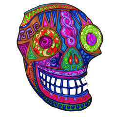 Mexican Sugar Skull half side
