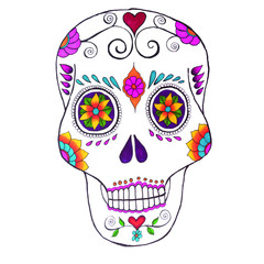 Mexican Sugar Skull White