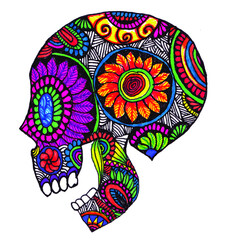 Mexican Sugar Skull side