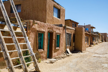 Street in Acoma Pueblo in New Mexico