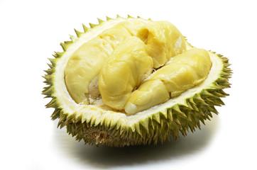 Durian fruit isolated on white background