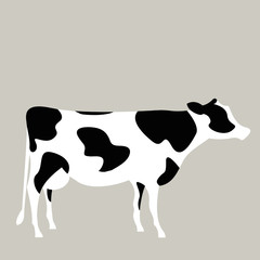 Vector illustration of a milk cow