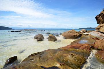 Beautiful sea view at Sabah island