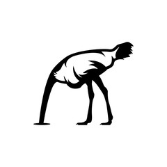 ostrich head in sand vector ilustrations