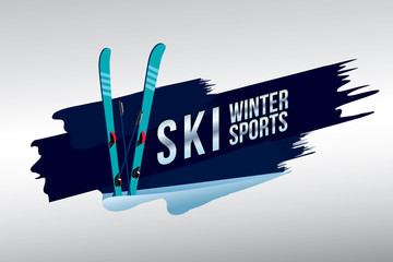 Vector of ski badge design.