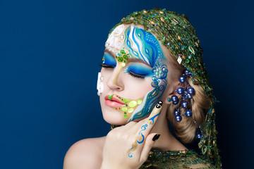 body art mermaid