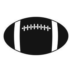 Rugby ball icon, simple style