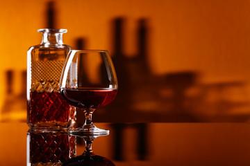 Glass of brandy .