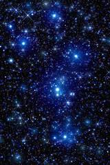 Milky way stars on a dark sky.