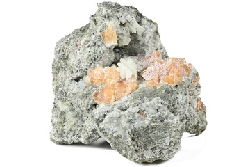 chabazite from Errachidia/ Morocco isolated on white background