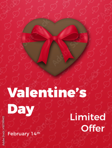 Valentines Day Poster For Valentine S Sale Promo Etc Chocolate