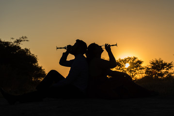 African wedding silhouette