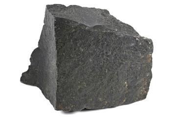 black onyx from India isolated on white background