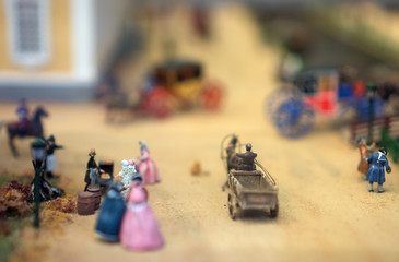The world in miniature. People on the street.