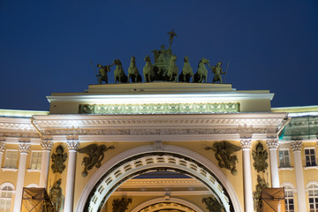 Arch of the General Staff in the Palace Square in St. Petersburg