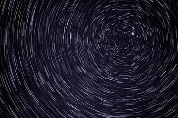 The universe as a startrail to Polaris