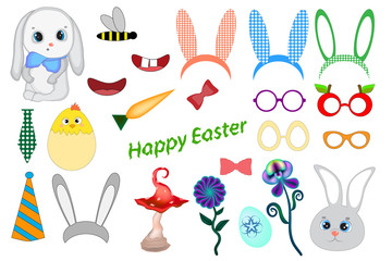 Easter photo booth props. Easter Party Celebration Printable