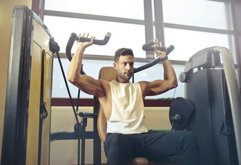 Fit man at the gym