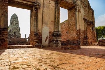 wat ratchaburana temple most popular traveling destination in ayutthaya world heritage site of unesco in thailand