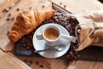 Wall Mural - CAFE_CROISSANT