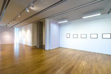 interior of modern gallery